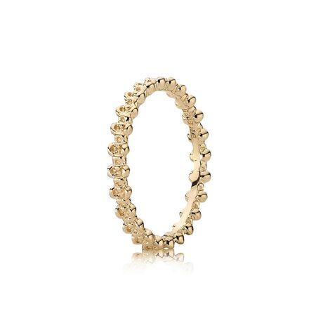 Floral Elegance Ring, 14K Gold