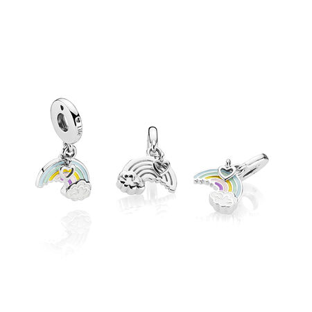 Rainbow of Love Dangle Charm, Mixed Enamel