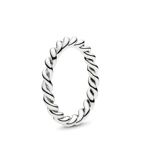 Intertwined Twist Stackable Ring, Sterling silver - PANDORA - #190602