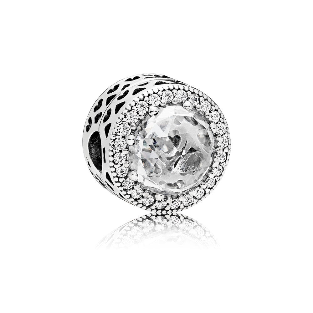 Radiant Hearts Clip Clear Cz Pandora Jewelry Us
