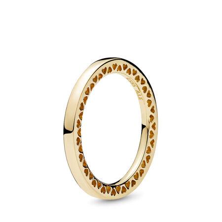 Classic Hearts of PANDORA Ring, 14K Gold, Yellow Gold 14 k - PANDORA - #156238