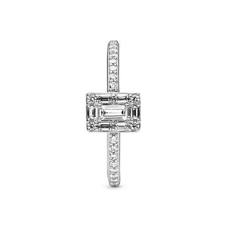 Luminous Ice Ring, Clear CZ, Sterling silver, Cubic Zirconia - PANDORA - #197541CZ