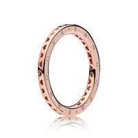 Signature Hearts of PANDORA Ring, PANDORA Rose™