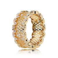 Honeycomb Lace Ring, PANDORA Shine™ & Clear CZ