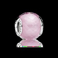 Petite Facets Charm, Pink CZ