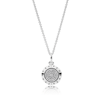 PANDORA Signature Pendant Necklace, Clear CZ