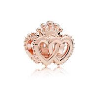 Charm Cœurs royaux unis, PANDORA Rose