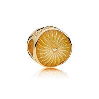 Rays of Sunshine Charm, PANDORA Shine™, Yellow Enamel & Clear CZ
