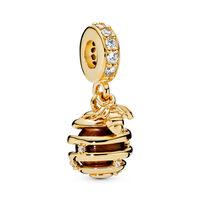 Sweet As Honey Dangle Charm, PANDORA Shine™, Tiger Eye & Clear CZ