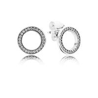 Forever PANDORA Stud Earrings, Clear CZ
