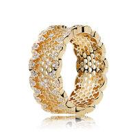 Honeycomb Lace Ring, PANDORA Shine™ & Clear CZ