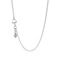 Sterling Silver Chain Necklace, Adjustable