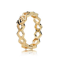 Limited Edition PANDORA Honeybee Ring, PANDORA Shine™ & Black Enamel