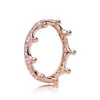 Pink Enchanted Crown Ring, PANDORA Rose™