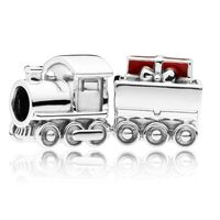 Christmas Train Charm, Red Enamel