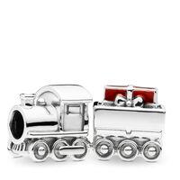 Christmas Train Charm, Red Enamel