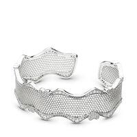 Bracelet-manchette Dentelle d'amour, cz incolore
