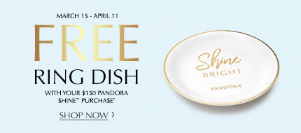 Free Ring Dish with your $150 PANDORA SHINE™ purchase.