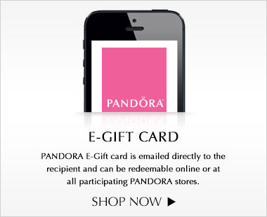 Pandora eGift Card is emailed directly to the recipient and can be redeemable online or at all participating PANDORA stores. Shop now
