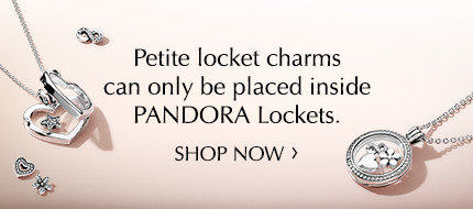 Place your petite charms in a PANDORA Locket!