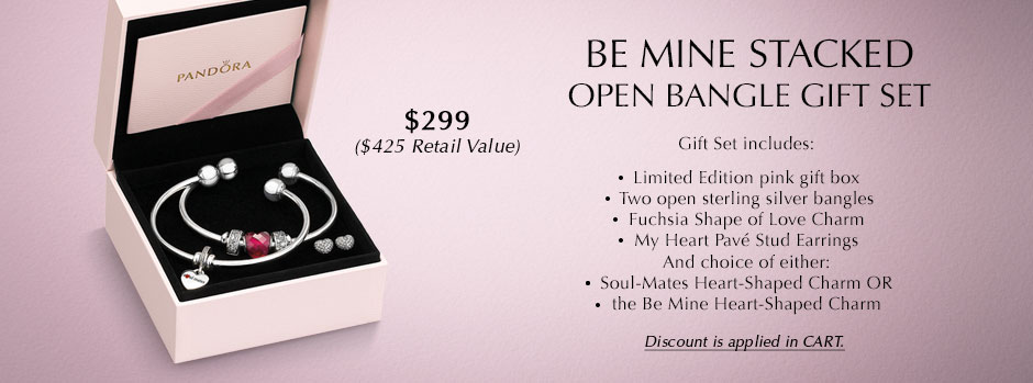 Build a Set - Be Mine Stacked Open Bracelet Gift Set
