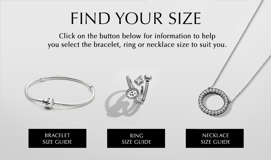 Bracelet necklace ring size guides pandora jewelry us click below to learn more about our jewelry size guides greentooth Choice Image
