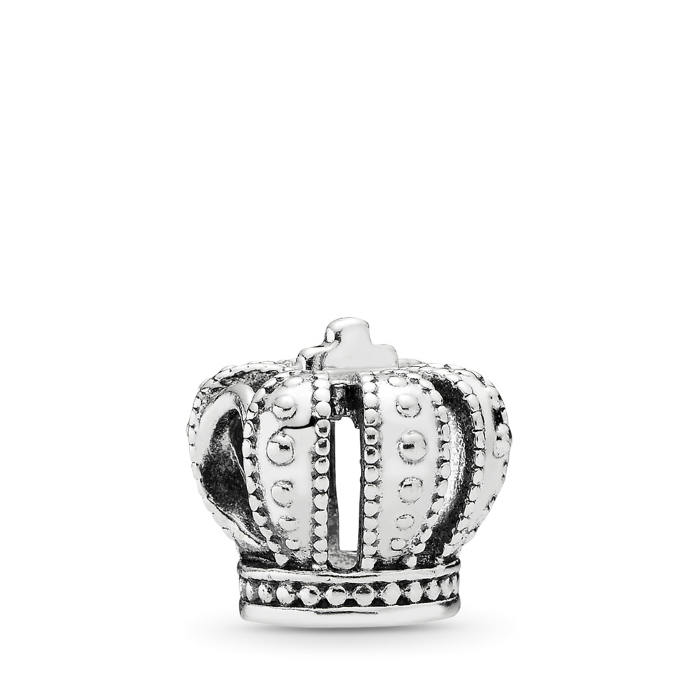 Royal Crown Charm, Sterling silver - PANDORA - #790930