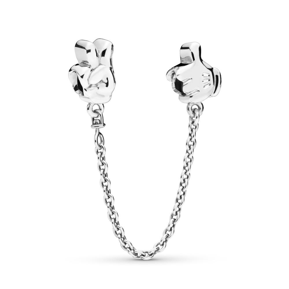 Disney, Mickey Gestures Safety Chain, Sterling silver, White - PANDORA - #797172