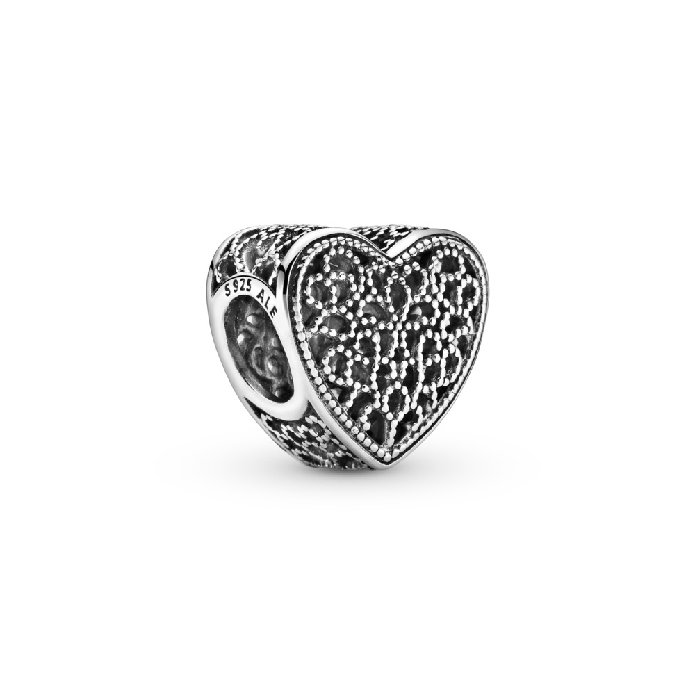 Filled with Romance Charm, Sterling silver - PANDORA - #791811