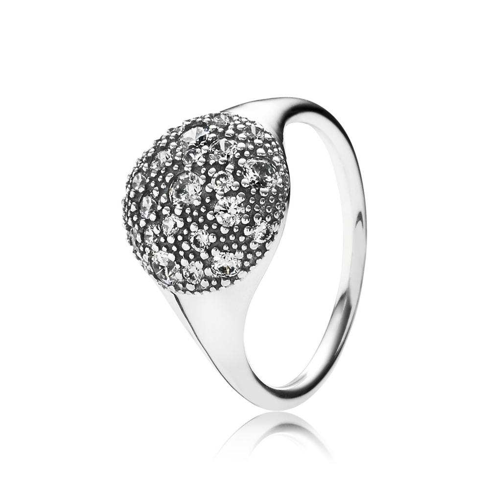 Cosmic Stars Ring, Clear CZ
