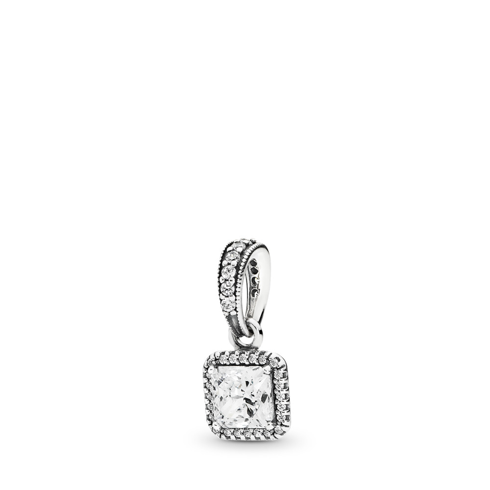 Timeless Elegance Pendant, Clear CZ, Sterling silver, Cubic Zirconia - PANDORA - #390378CZ
