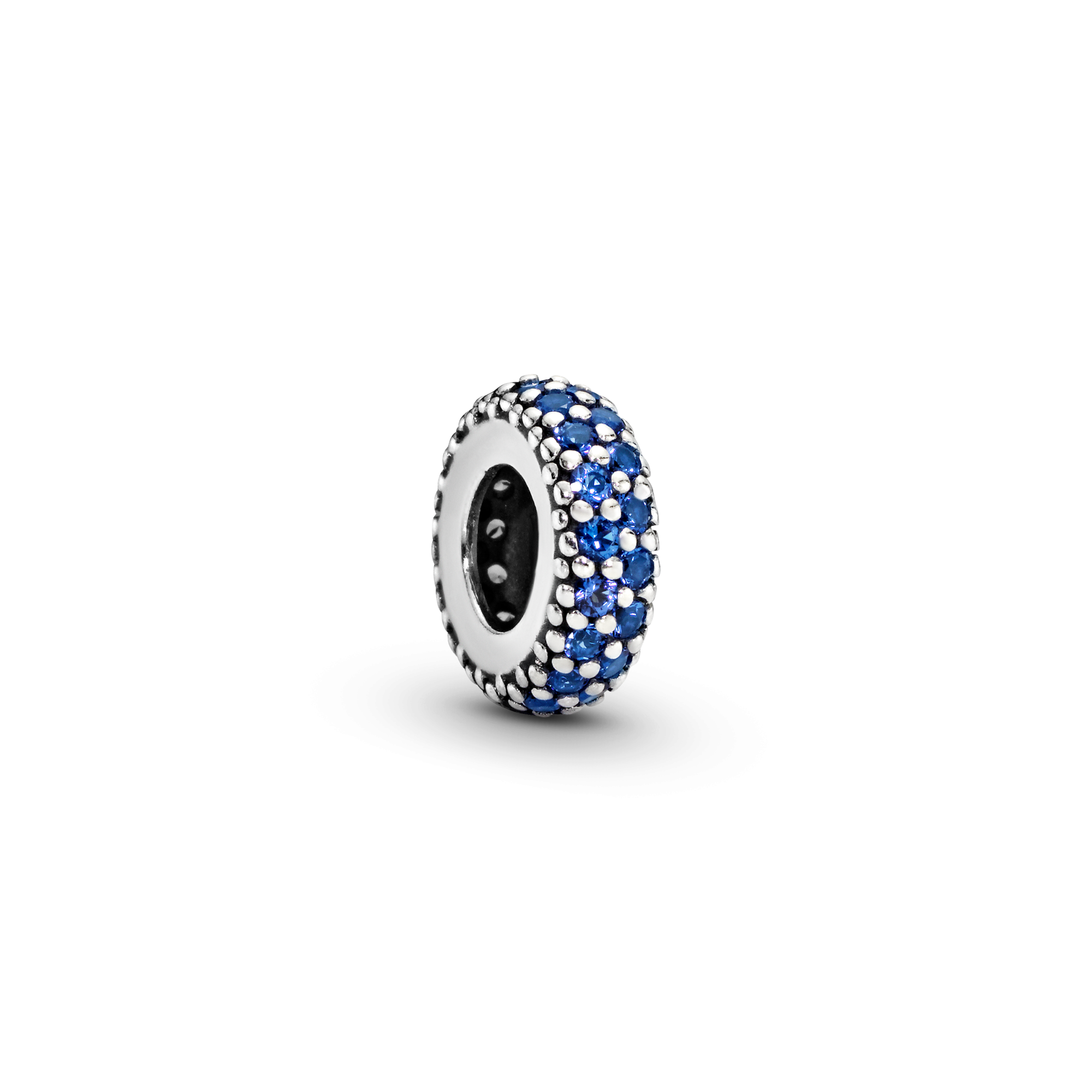 Blue Sparkle Spacer Charm