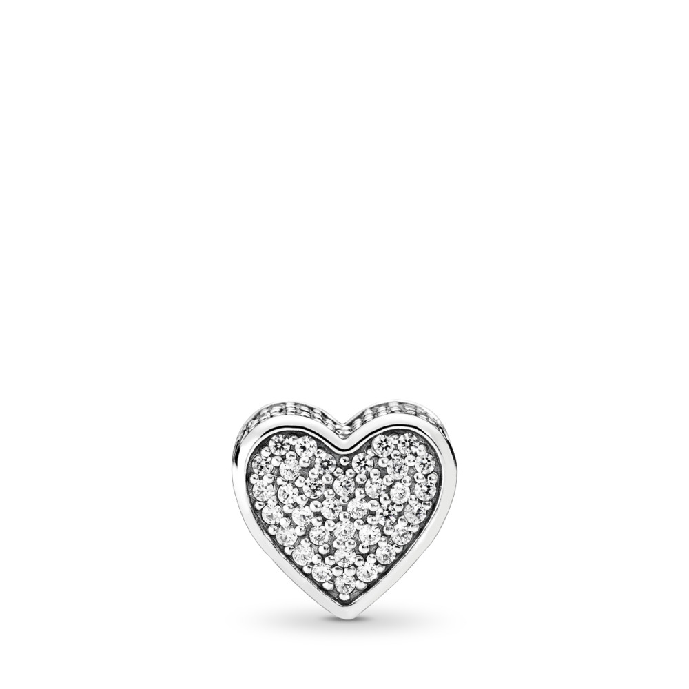 LOVE Charm, Clear CZ, Sterling silver, Silicone, Cubic Zirconia - PANDORA - #796084CZ