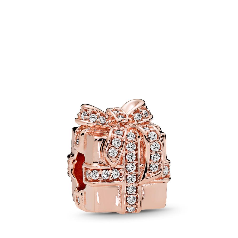 Sparkling Surprise Charm, PANDORA Rose™ & Clear CZ, PANDORA Rose, Cubic Zirconia - PANDORA - #781400CZ