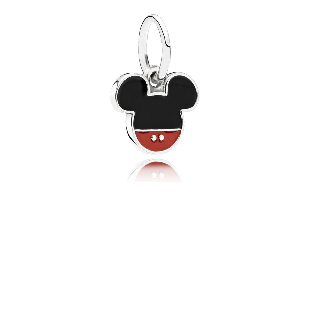 Disney, Mickey Icon Dangle Charm, Mixed Enamel