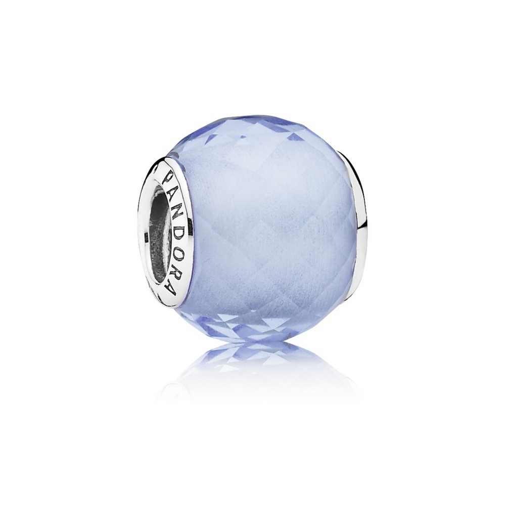 Petite Facets Charm, Synthetic Blue Quartz