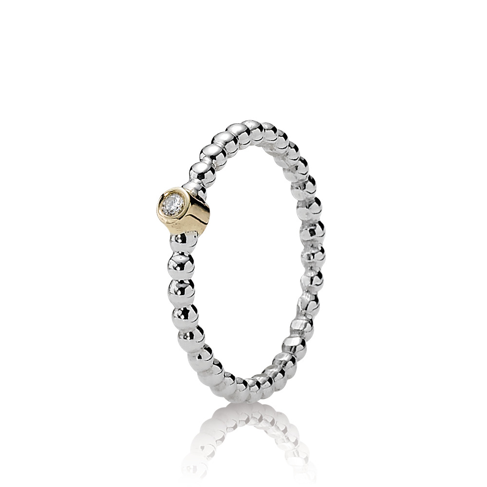 Evening Star Ring, Diamond, Two Tone, Diamond h/vs - PANDORA - #190214D