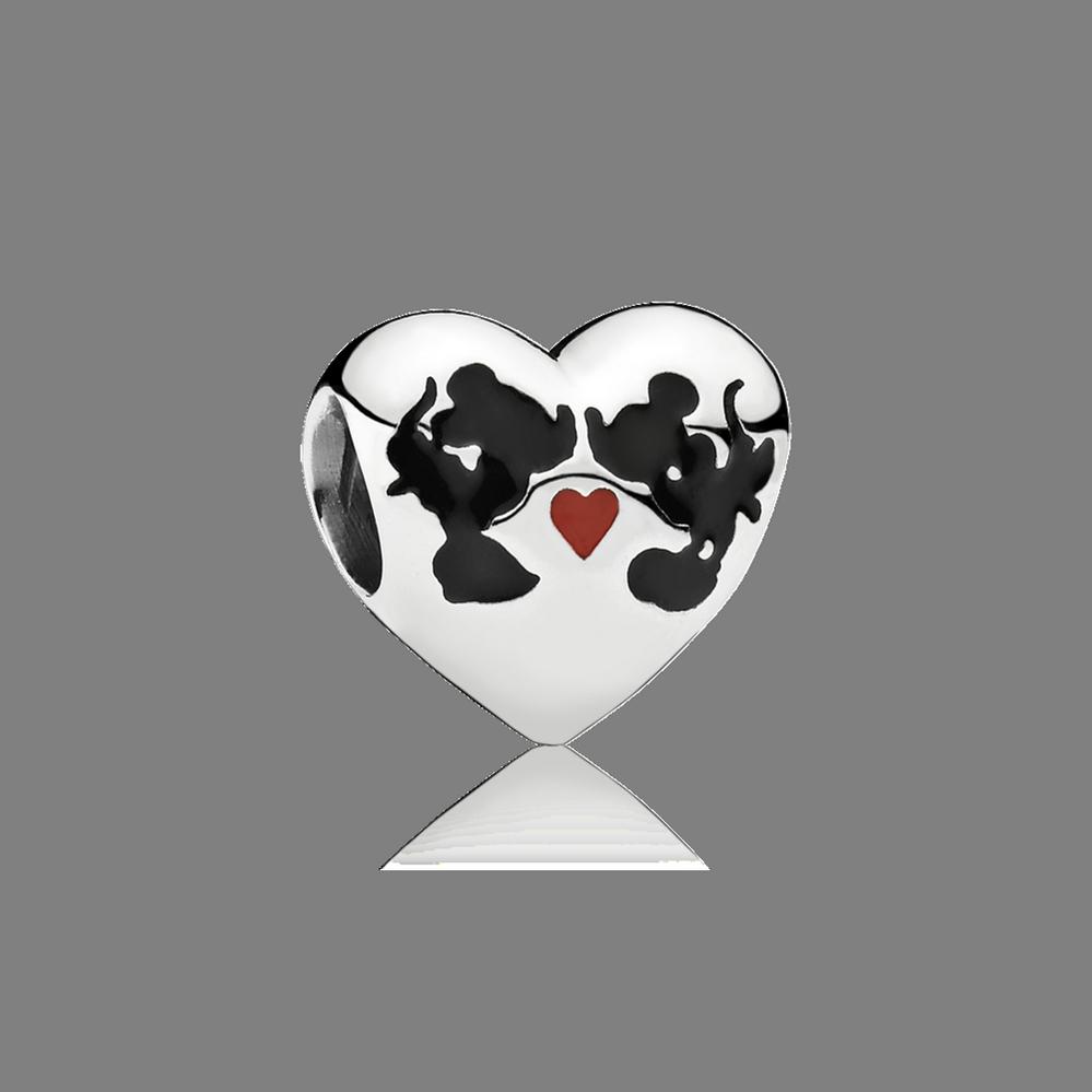 Disney, Minnie & Mickey Kiss Charm, Mixed Enamel