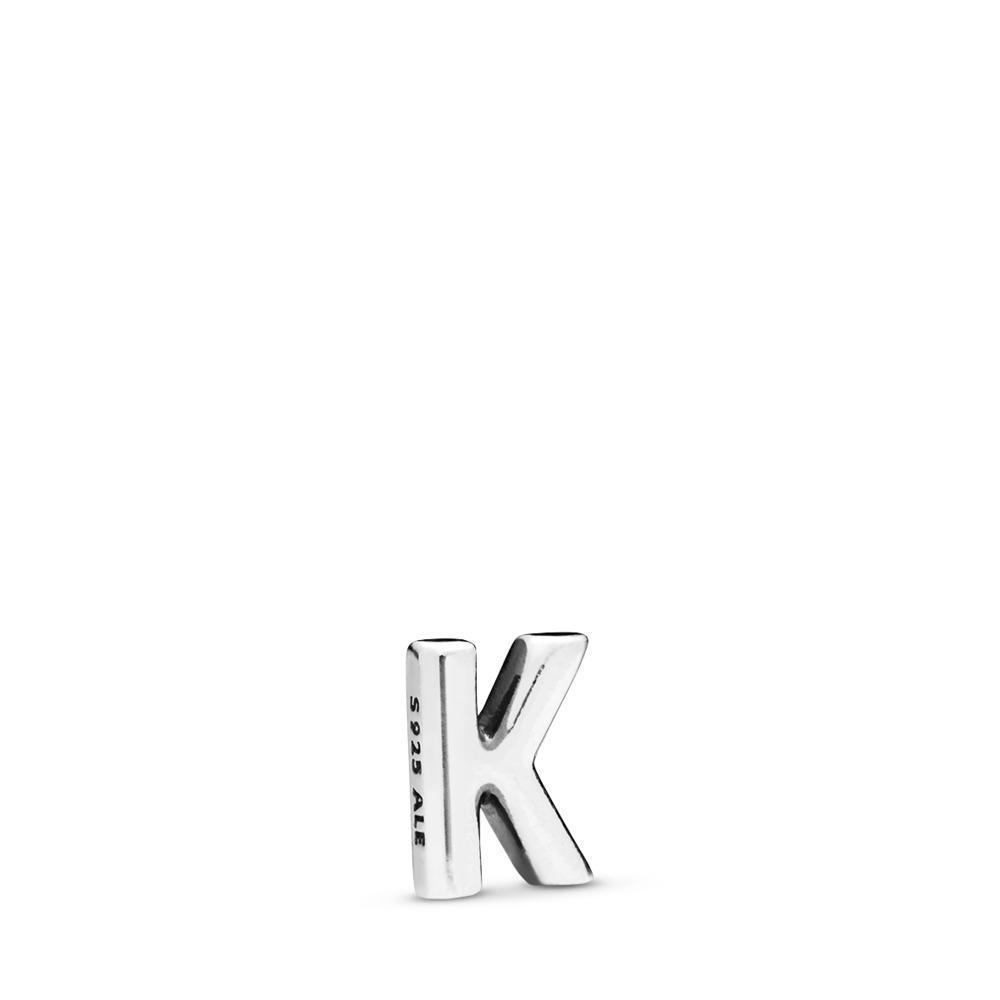 Letter K Petite Locket Charm, Sterling silver - PANDORA - #797329