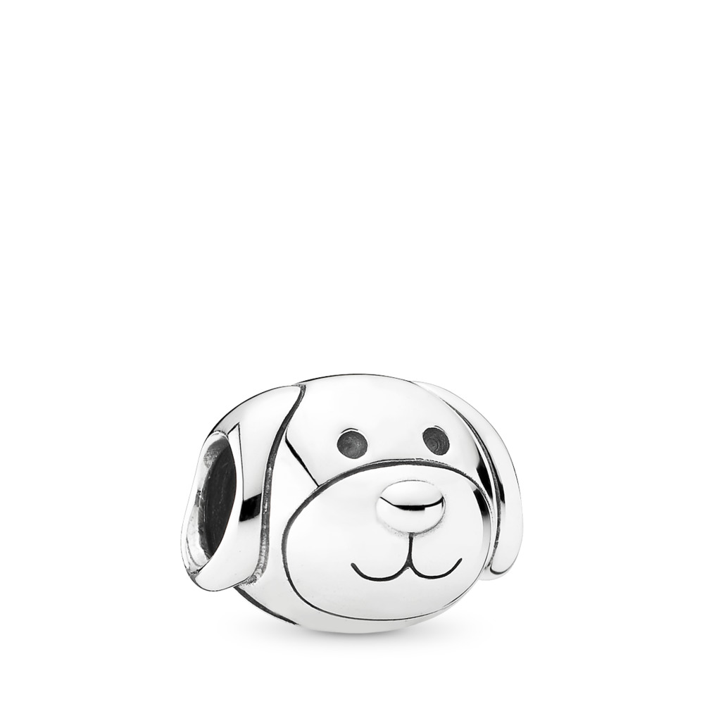 Devoted Dog Charm, Sterling silver - PANDORA - #791707
