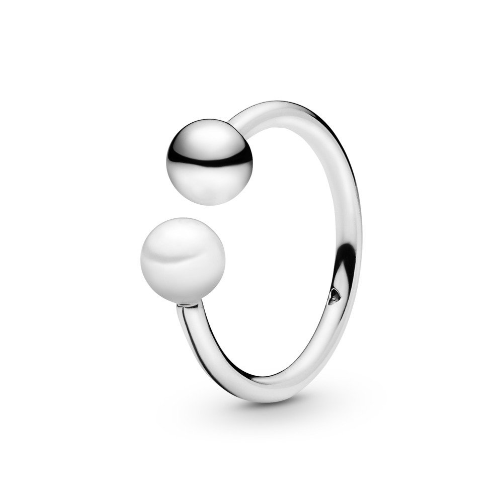 Contemporary Pearl Ring, Freshwater Cultured Pearl, Sterling silver, White, Freshwater cultured pearl - PANDORA - #197573P