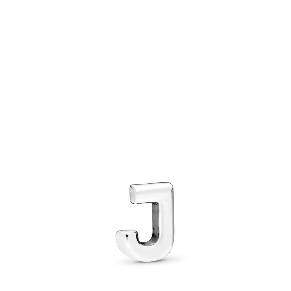 Letter J Petite Locket Charm, Sterling silver - PANDORA - #797328