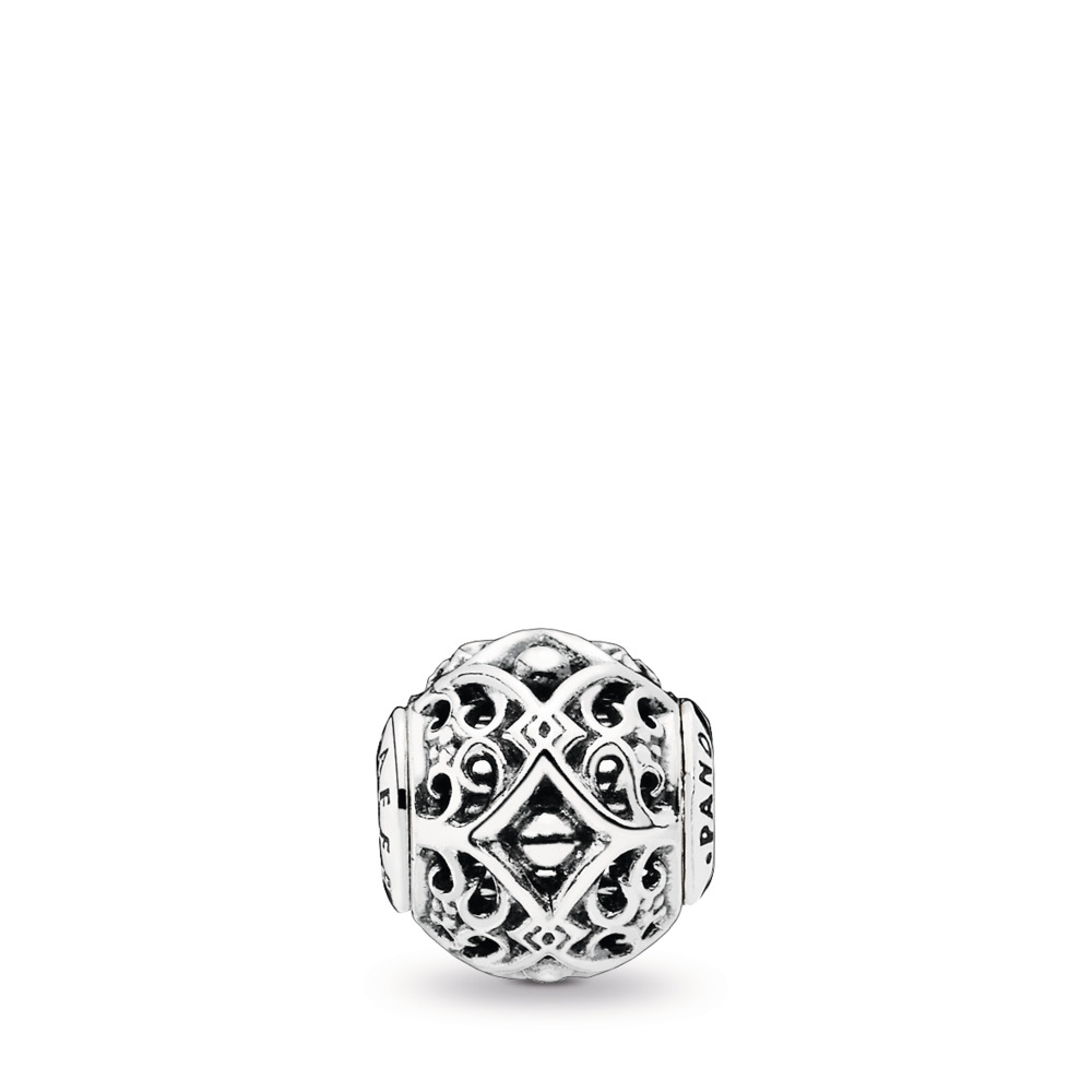 AFFECTION Charm, Sterling silver, Silicone - PANDORA - #796056