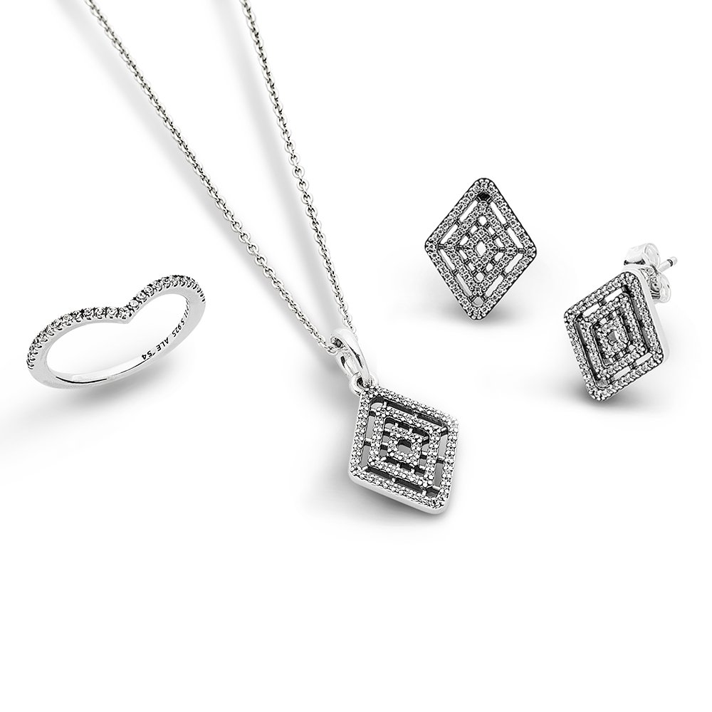 Geometric Shine Jewelry Set