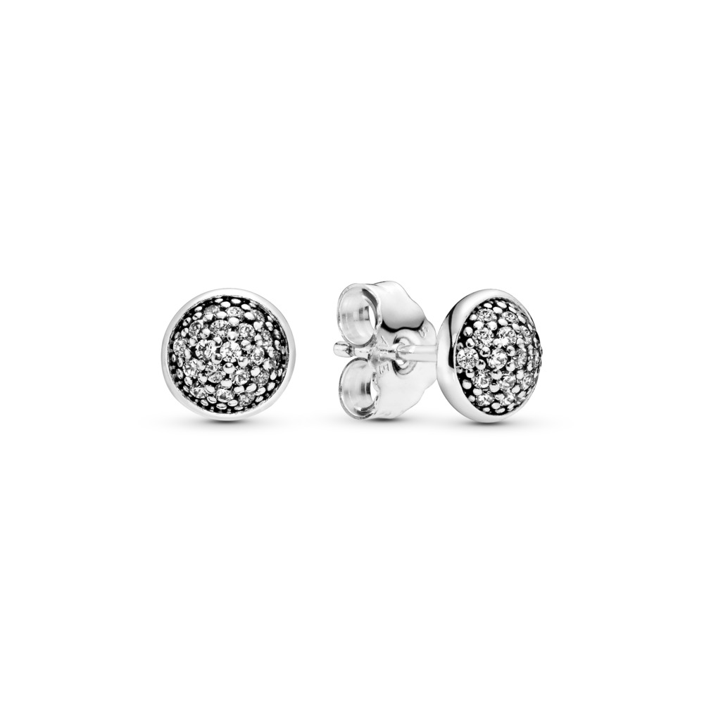 Dazzling Droplets Stud Earrings, Clear CZ, Sterling silver, Cubic Zirconia - PANDORA - #290726CZ