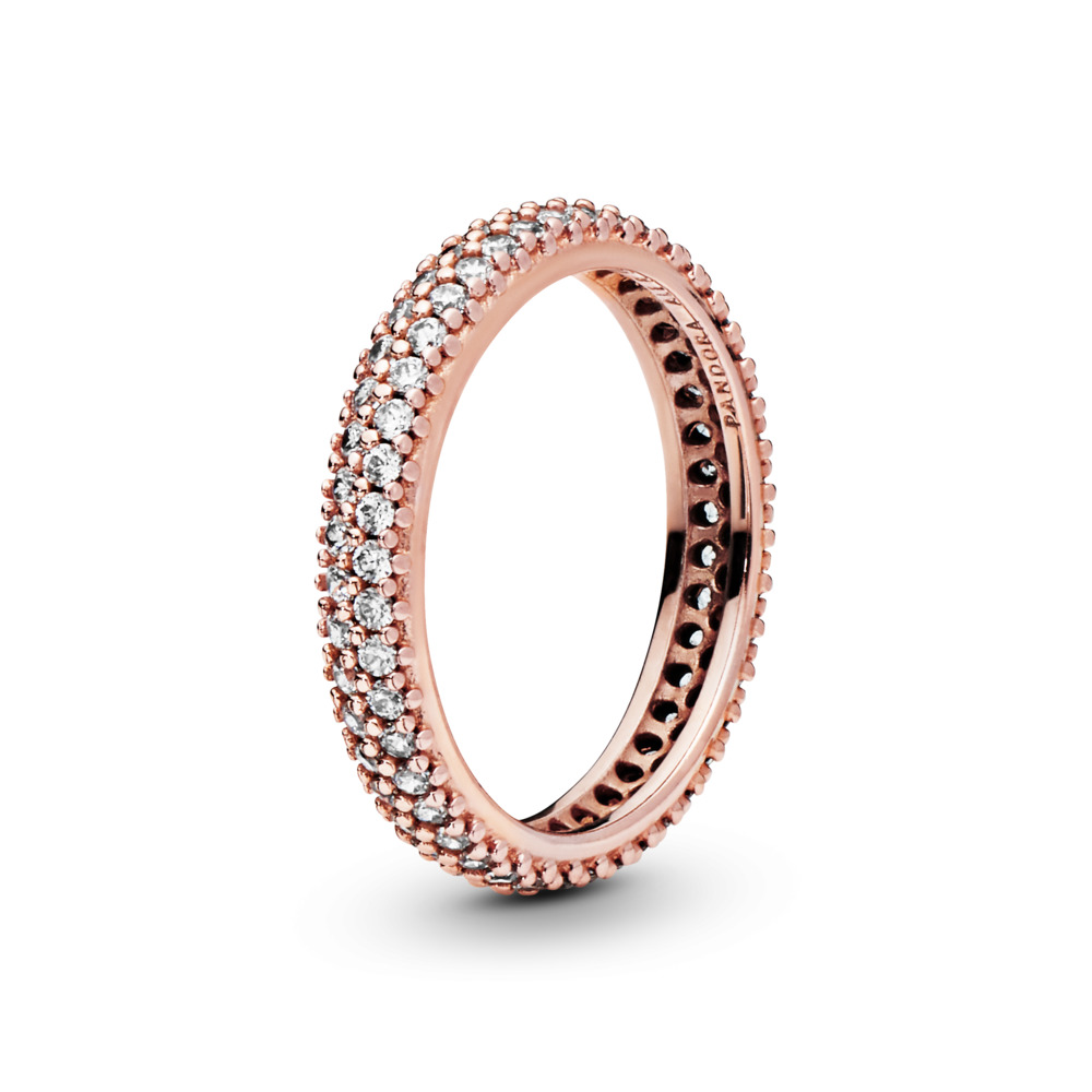 Inspiration Within Ring, PANDORA Rose™ & Clear CZ, PANDORA Rose, Cubic Zirconia - PANDORA - #180909CZ