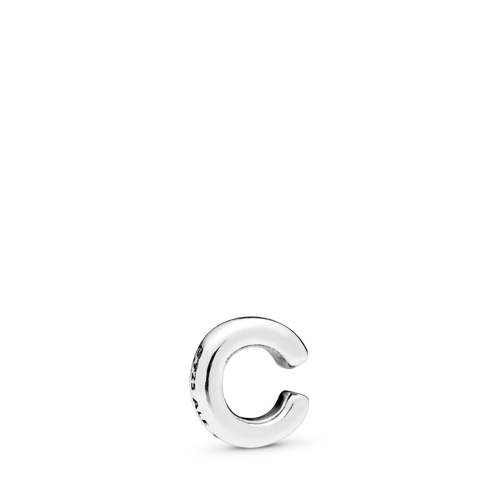 Letter C Petite Locket Charm, Sterling silver - PANDORA - #797320