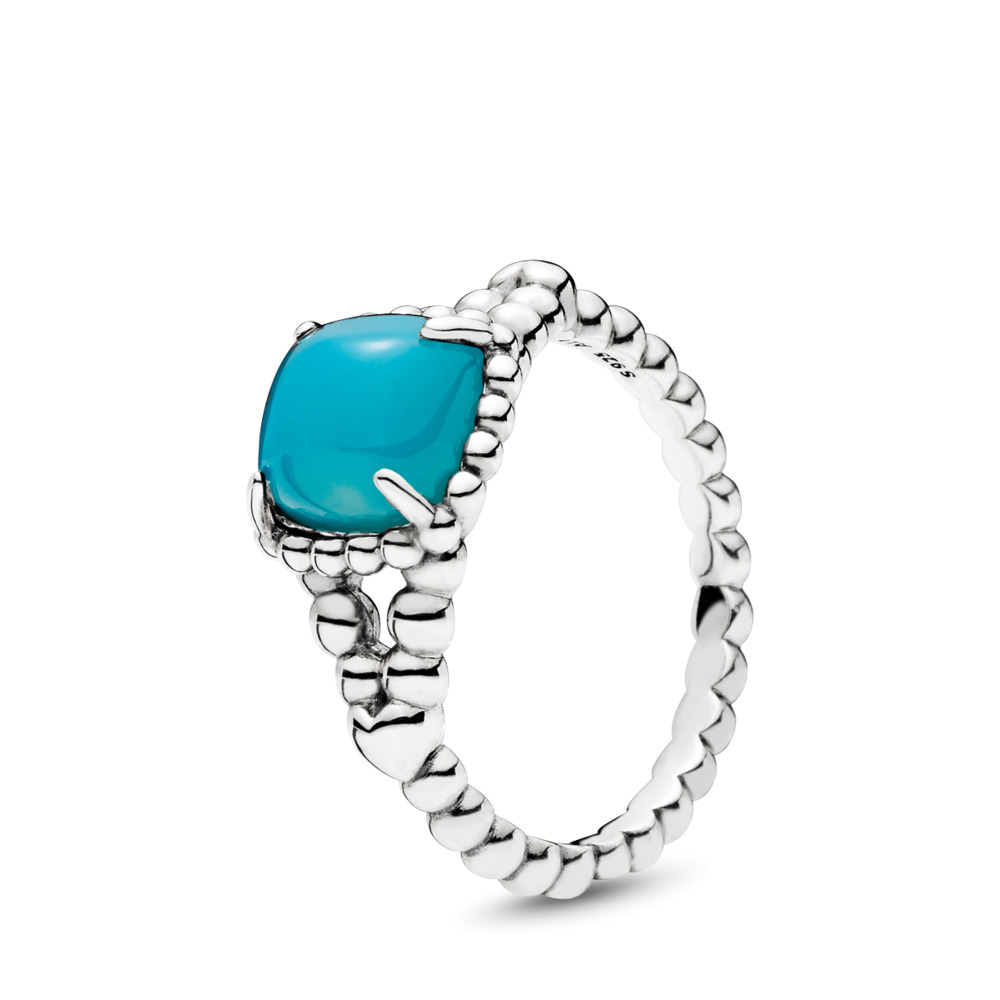 Vibrant Spirit Ring, Scuba Blue Crystal, Sterling silver, Blue, Crystal - PANDORA - #197188NSC