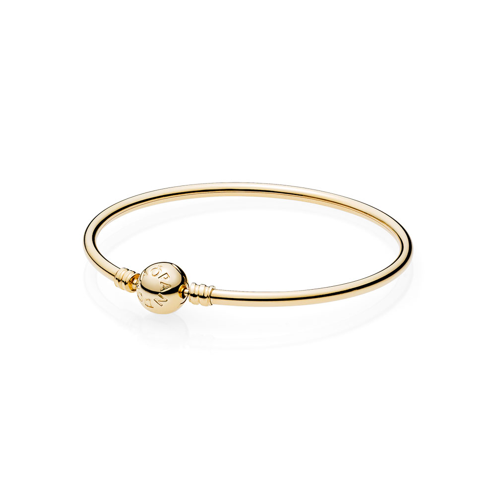 14k Gold Bangle W Signature Clasp
