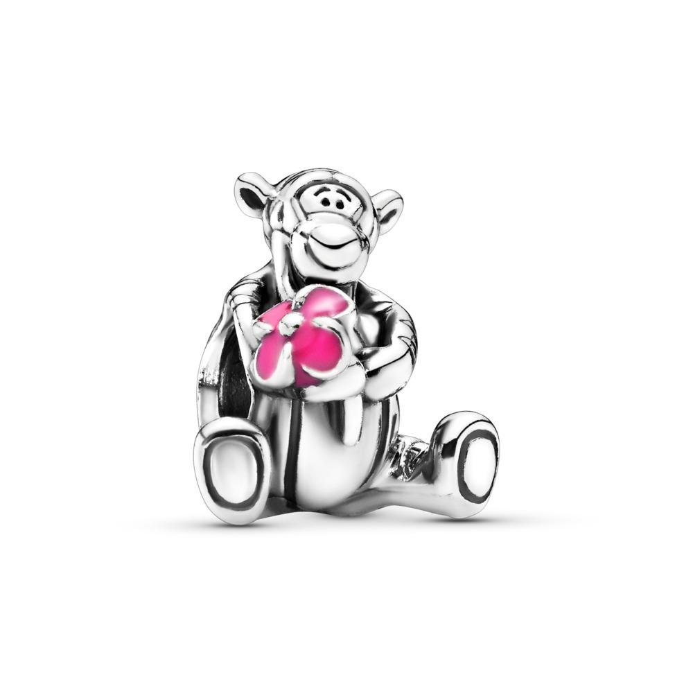 Disney, Tigger Charm, Pink Enamel, Sterling silver, Enamel, Pink - PANDORA - #792135EN80